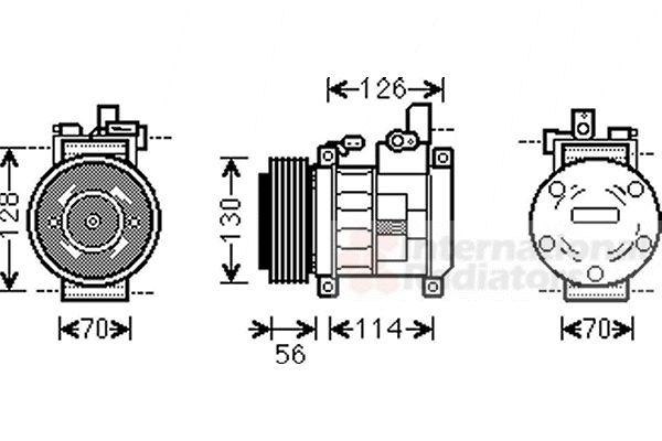 Compresseur, climatisation - VAN WEZEL - 0700K062