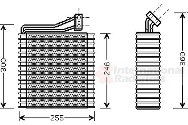 Evaporateur climatisation - VAN WEZEL - 0700V040