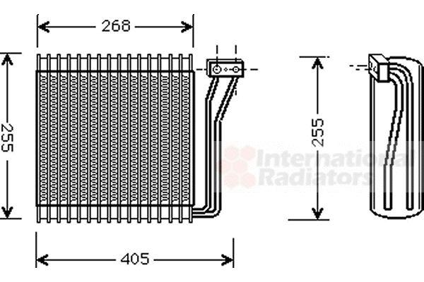Evaporateur climatisation - VAN WEZEL - 0700V041