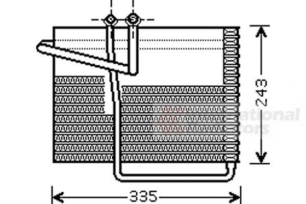 Evaporateur climatisation - VAN WEZEL - 0700V042