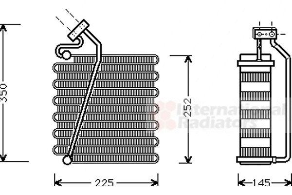 Evaporateur climatisation - VAN WEZEL - 0700V043