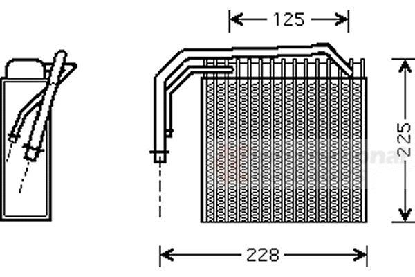 Evaporateur climatisation - VAN WEZEL - 0700V061