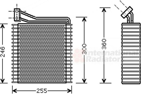 Evaporateur climatisation - VAN WEZEL - 0700V089