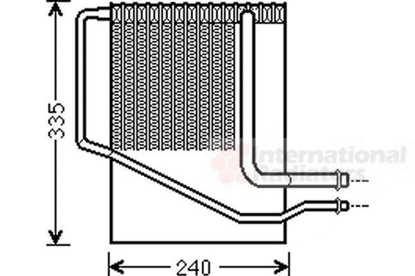 Evaporateur climatisation - VAN WEZEL - 0700V099