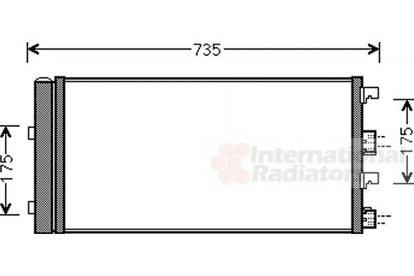 Condenseur, climatisation - VAN WEZEL - 15005004