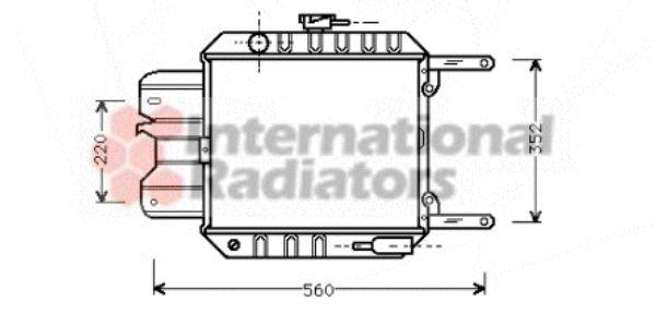 Radiateur, refroidissement du moteur - VAN WEZEL - 13002012