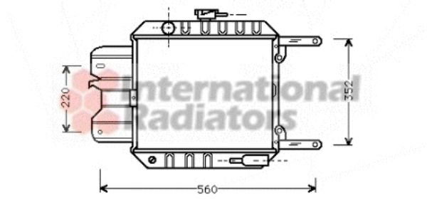 Radiateur, refroidissement du moteur - VWA - 88VWA13002012
