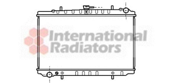 Radiateur, refroidissement du moteur - VAN WEZEL - 13002027