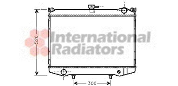 Radiateur, refroidissement du moteur - VAN WEZEL - 13002041