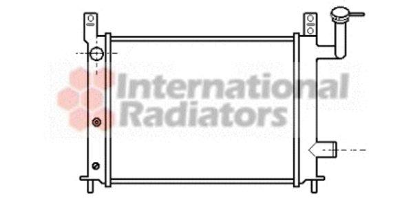 Radiateur, refroidissement du moteur - VAN WEZEL - 13002046