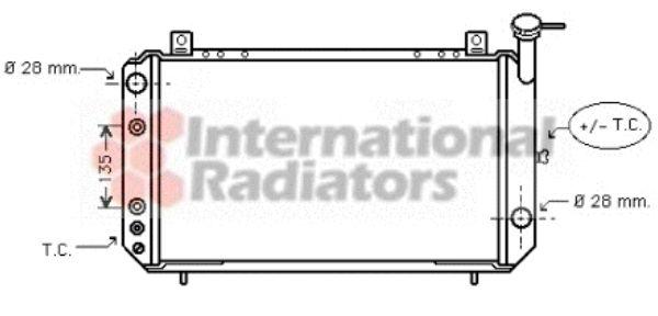 Radiateur, refroidissement du moteur - VAN WEZEL - 13002049