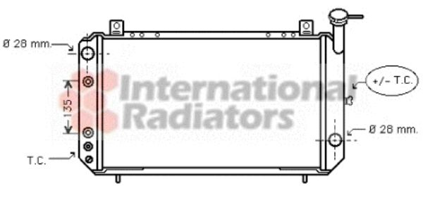 Radiateur, refroidissement du moteur - VAN WEZEL - 13002050