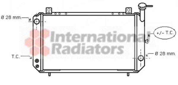 Radiateur, refroidissement du moteur - VAN WEZEL - 13002052