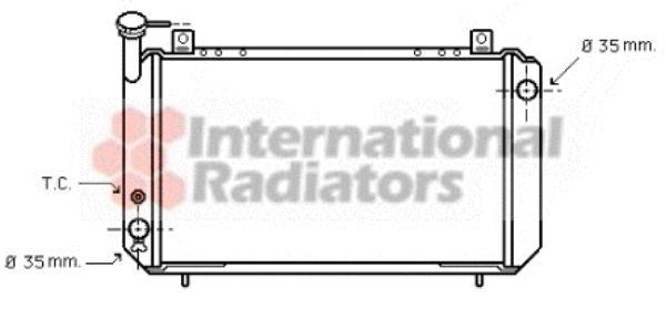 Radiateur, refroidissement du moteur - VAN WEZEL - 13002054