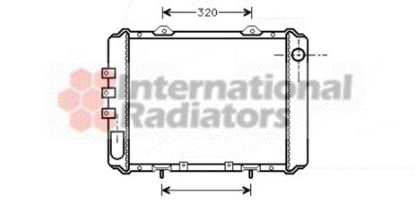 Radiateur, refroidissement du moteur - VAN WEZEL - 13002055