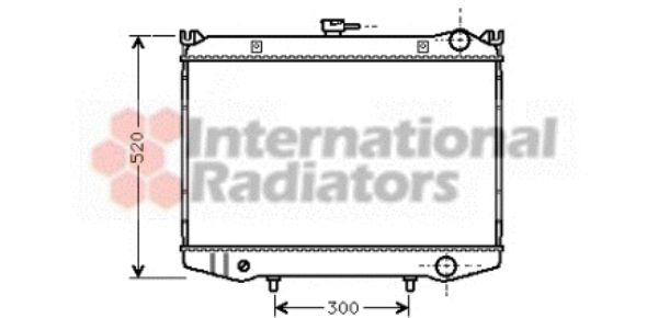 Radiateur, refroidissement du moteur - VAN WEZEL - 13002064