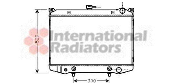 Radiateur, refroidissement du moteur - VAN WEZEL - 13002076