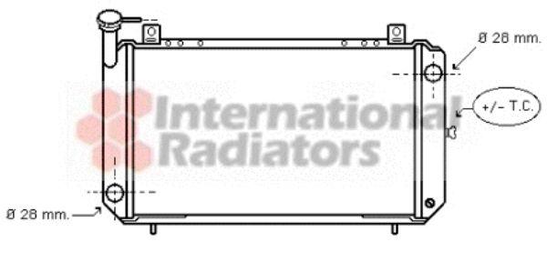 Radiateur, refroidissement du moteur - VAN WEZEL - 13002084