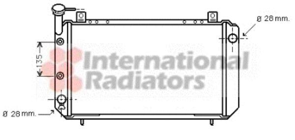 Radiateur, refroidissement du moteur - VAN WEZEL - 13002086
