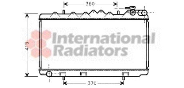 Radiateur, refroidissement du moteur - VAN WEZEL - 13002092