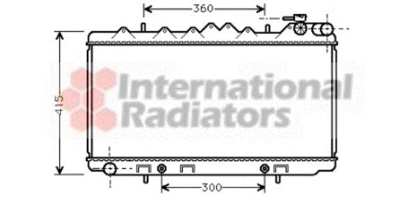 Radiateur, refroidissement du moteur - VAN WEZEL - 13002093