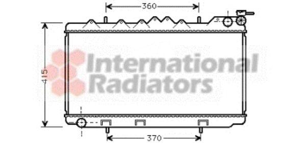 Radiateur, refroidissement du moteur - VAN WEZEL - 13002094