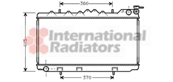 Radiateur, refroidissement du moteur - VWA - 88VWA13002094