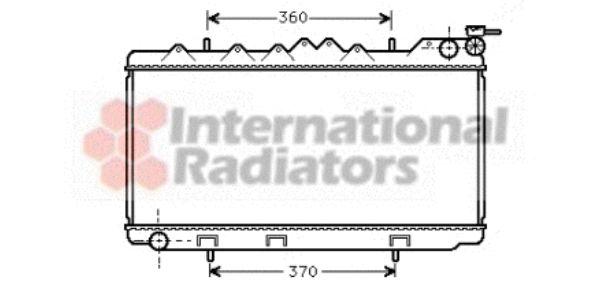 Radiateur, refroidissement du moteur - VAN WEZEL - 13002102