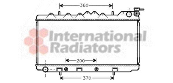 Radiateur, refroidissement du moteur - VAN WEZEL - 13002103