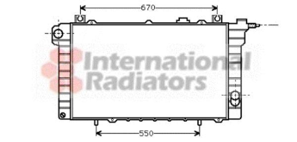 Radiateur, refroidissement du moteur - VAN WEZEL - 13002110