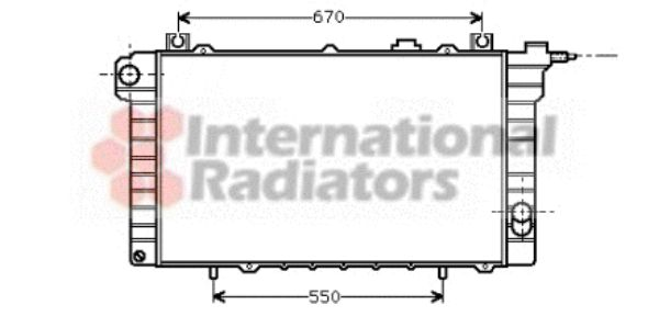 Radiateur, refroidissement du moteur - VWA - 88VWA13002110