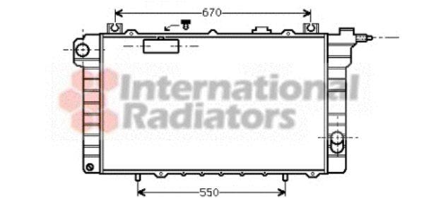 Radiateur, refroidissement du moteur - VAN WEZEL - 13002111