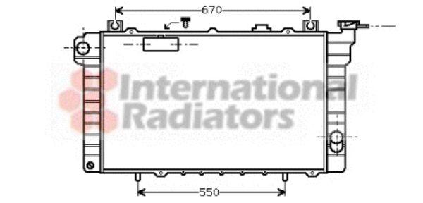 Radiateur, refroidissement du moteur - VAN WEZEL - 13002113