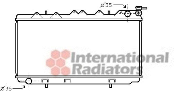 Radiateur, refroidissement du moteur - VAN WEZEL - 13002114