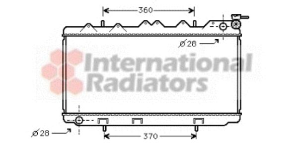Radiateur, refroidissement du moteur - VAN WEZEL - 13002116