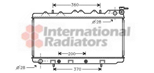 Radiateur, refroidissement du moteur - VAN WEZEL - 13002119