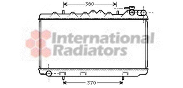 Radiateur, refroidissement du moteur - VAN WEZEL - 13002122
