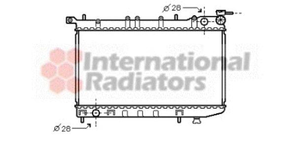 Radiateur, refroidissement du moteur - VAN WEZEL - 13002123