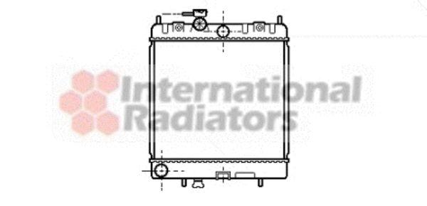 Radiateur, refroidissement du moteur - VAN WEZEL - 13002130