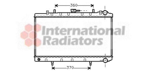 Radiateur, refroidissement du moteur - VAN WEZEL - 13002132