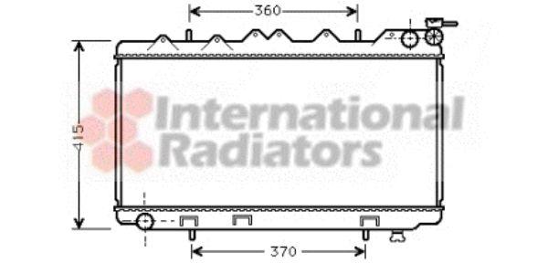 Radiateur, refroidissement du moteur - VAN WEZEL - 13002135