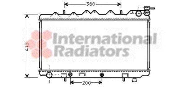 Radiateur, refroidissement du moteur - VAN WEZEL - 13002136