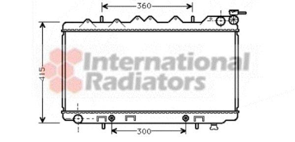 Radiateur, refroidissement du moteur - VAN WEZEL - 13002137