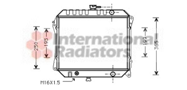 Radiateur, refroidissement du moteur - VAN WEZEL - 13002141