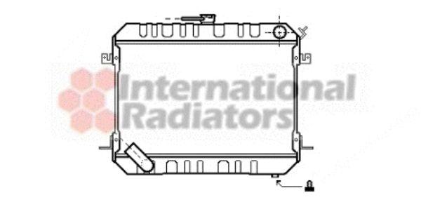 Radiateur, refroidissement du moteur - VAN WEZEL - 13002142