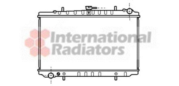 Radiateur, refroidissement du moteur - VAN WEZEL - 13002144