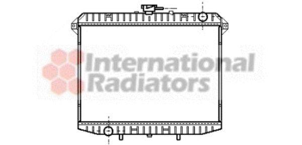 Radiateur, refroidissement du moteur - VAN WEZEL - 13002148