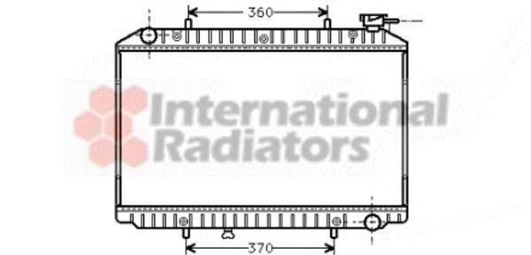 Radiateur, refroidissement du moteur - VAN WEZEL - 13002149