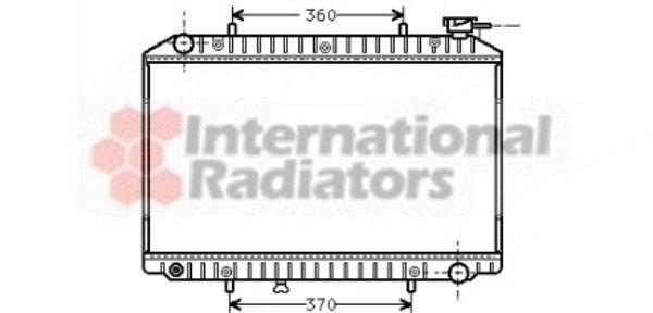 Radiateur, refroidissement du moteur - VAN WEZEL - 13002151