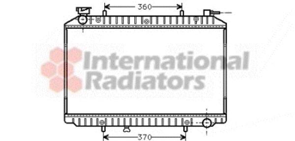 Radiateur, refroidissement du moteur - VAN WEZEL - 13002155